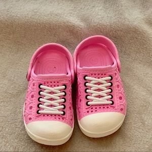 Other - Pink White Plastic Slip-On Shoes Inf Girl 26 (9.5)